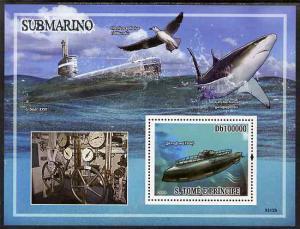 St Thomas & Prince Islands 2009 Submarines & Shar...