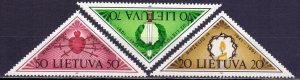 Lithuania. 1991. 477-79. 50 years of occupation. MNH.