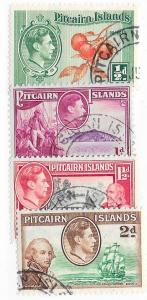Pitcairn Islands #1-4   George VI  (U) CV$3.30