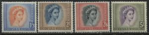 Rhodesia QEII middle values from 1st set 1/3d, 2/, 2/6d, and 5/ mint o.g.