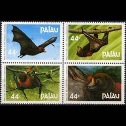 PALAU 1987 - Scott# 125a Fruit Bats Set of 4 NH