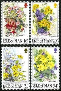 Isle of Man 340-343, MNH. Wild flowers, 1987