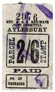 (I.B) Metropolitan & Great Central Joint Railway : Parcel 2/6d (Aylesbury)