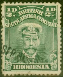 Rhodesia 1922 1/2d Dull Green SG282 Fine Used