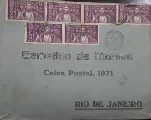 V) 1971 BRAZIL, MULTIPLE STAMPS, ESMERINO DE MORAES, BLACK CANCELLATION, CIRCULA