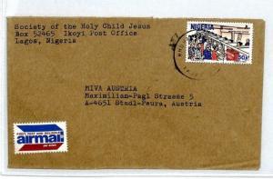 NIGERIA Cover 1980s Missionary HOLY CHILD SOCIETY Cachet Air Mail MIVA CM53