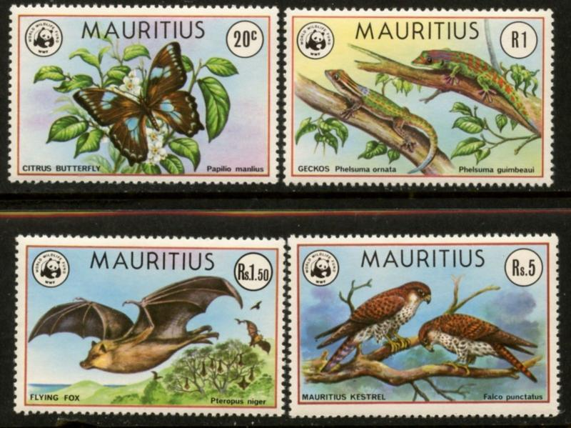 MAURITIUS Sc#469-472 1978 World Wildlife Fund (WWF) Complete VF Mint NH