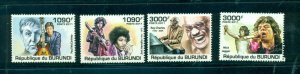 Burundi #966-69 (2011 Entertainers set) VFMNH CV $15.00