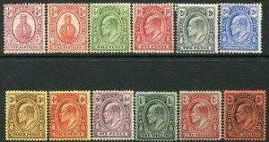 TURKS & CAICOS ISLANDS-1908-11 Set to 3/- Sg 115-126 AVERAGE MOUNTED MINT V33359