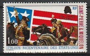 1976 St. Pierre and Miquelon - Sc 447 - MNH VF - 1 single -American bicentennial