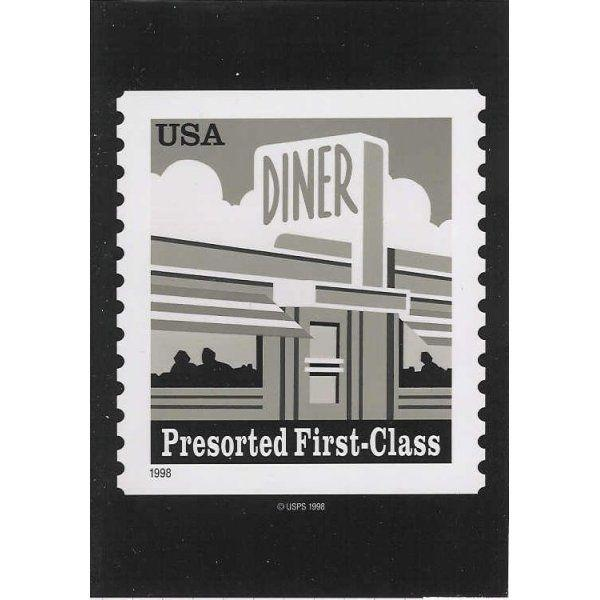 US #3208 Diner (25c) Presortred First-Class Photo of Essay