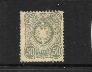 GERMANY  1875  50pf   GREY GREEN   MH   SG 37  Mi 36