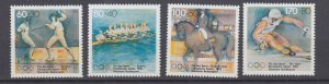 J29728, 1992 germany set mnh #b724-7 sports