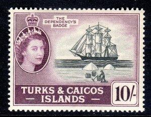 Turks & Caicos  1957-62 ..    sg 250  ..10/-  -  mnh um   cv £27