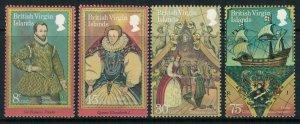 Virgin Islands #391-4* NH CV $4.00 Sir Francis Drake commemorative postage stamp