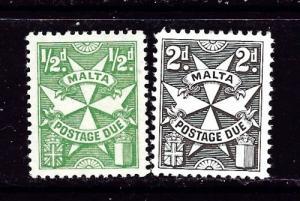 Malta J11 and J14 NH 1925 Postage Dues