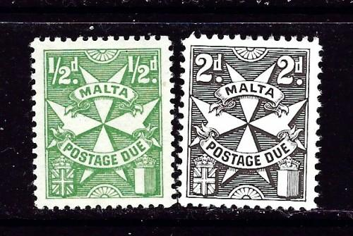 Malta J11 and J14 NH 1925 Postage Dues