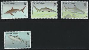 Pitcairn Islands SC367-370 Sharks MNH 1992