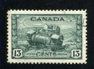 Canada #258   used   VF  PD