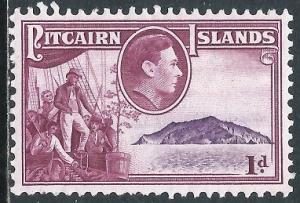 Pitcairn Islands, Sc #2, 1d MH