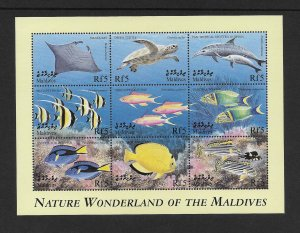 FISH - MALDIVES #2389 NATURE WONDERLAND  MNH