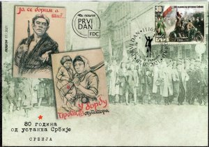 1648 - Serbia 2021 - 80 Years Since the Serbian Uprising - FDC