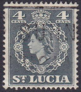 St Lucia 1953 SG175 Used