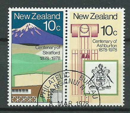 New Zealand SG 1160  se tenant pair Philatelic Bureau Cancel