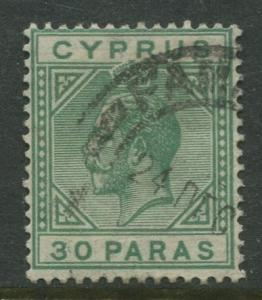 Cyprus - Scott 75 - KGV Definitive Issue -1921 - Used - Single 30pa Stamp