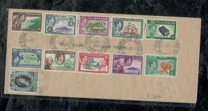 PITCAIRN ISLANDS COVER (PP0301B) 1953 KGVI SET+QEII CORONATION LOCAL COVER