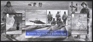 Isle Of Man. 2012. bl85. Exploration of Antarctica. MNH.