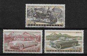 Czechoslovakia 1958 History of Transportation, Cars, Sc 890/895,VF USED (SL-1)