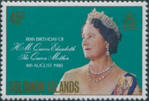 Solomon Islands 1980 SG421 45c Queen Mother Birthday MNH