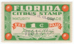 (I.B) US Revenue : Citrus Fee Paid 1c (Florida)