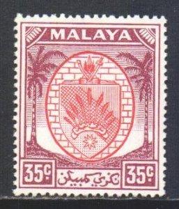Malaya Negri Sembilan Scott 53 - SG57, 1949 Arms 35c MNH**