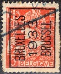 Belgium; 1932: Sc. # 246; O/Used PreCancel Single Stamp