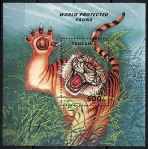 Tanzania MNH S/S 1294 Protected Fauna Tiger 1994