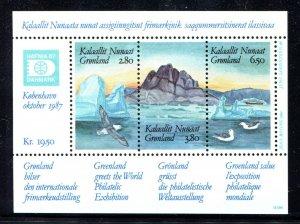 Greenland 1987 Sc 175 Birds Ice MNH CV $8