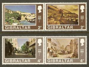Gibraltar #247a-54a NH Wmk 314 Upright