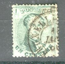 BELGIUM 13 USED KING LEOPOLD 1