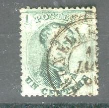 BELGIUM 13 USED KING LEOPOLD 1