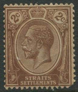 Straits Settlements - Scott 181 - KGV Definitive - 1921 - MNG - 2c Stamp