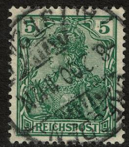 Germany 54 Used - 5pf green Germania Reichspost (1900)