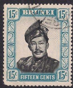 Brunei 1964 – 72 QE2 8ct Sultan Omar MM SG 123a ( R1007 )