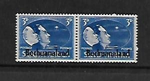 BECHUANALAND PROTECTORATE, 137-139, MINT HINGED,  PEACE ISSUE  OVPTD PAIRS