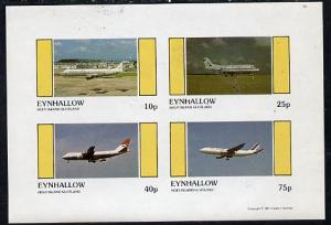Eynhallow 1981 Airliners #1 imperf  set of 4 values (10p ...