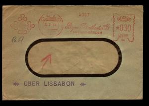Norway 1941 Metered Cover to USA / German Censor - Z14019