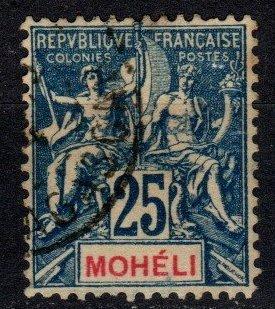 Moheli #7  F-VF Used CV $5.50  (X4076)