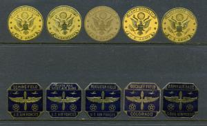 10 Different Vintage Patriotic US Air Force Base & Army Camp Poster Stamps L203