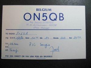 10527 Amateur Radio QSL Card HYON HAINAUT BELGIUM